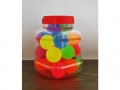 Rubber ball 43 mm color mix