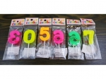 Colorful birthday candles digits  MB-12304