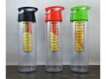 Water bottle with insert for fruit - with hook   MB-10210