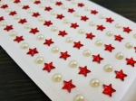 Decorative stickers, stars and pearls  MB-12278