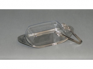 Butter dish with lid and tongs  MB-6564