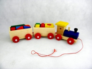 Wooden Toy Train with blocks  MJ3859