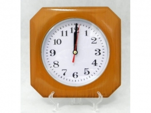 Wall clock with a floating mechanism, WOOD  MJ2384