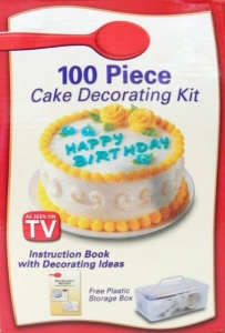 Set to decorate cakes TV 100 parts   MB-9210