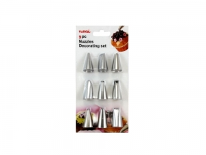 A set of tips to decorate cakes 9 pieces MB-7691