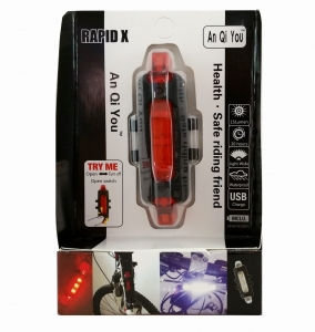 Bicycle lighting back 15 lumens battery   MJ7532