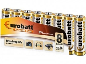Batteries Alkaline Plus AA 8 pcs EUROBATT LR6-SP8