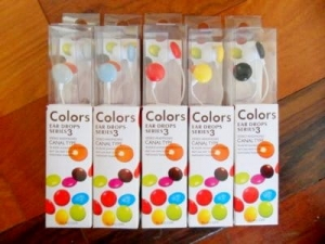 Earphones MP3/MP4 colorful stereo   NJ010