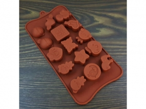 Silicone form for chocolate 15pcs mix MB-13821