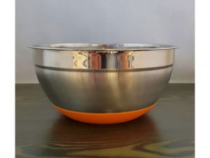 Steel bowl with a silicone bottom 24cm MB-13573