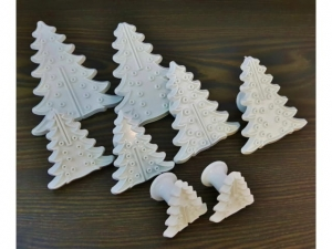Christmas tree shaped cookie cutter 8pcs MB-13869