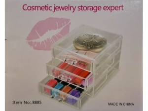 Acrylic drawer stand for cosmetics 12x11x13cm MJ11421