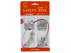 4 sizes of safety pins MJ1909