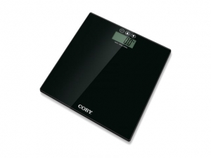 Black bathroom weighing scale COBY BMI SM-573