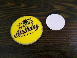 Glow light badge Happy Birthday MJ12044