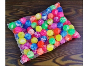 25mm rubber ball mix of colors MJ12059