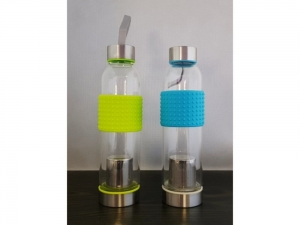 Glass bottle with steel infuser 550ml SMJ12416