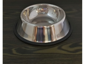 Non-slip steel dog bowl 16x22cm  MJ12514