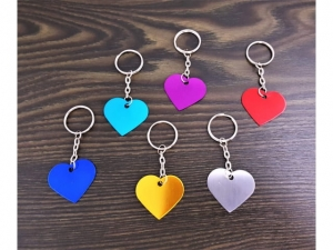 Aluminum heart keychain for engraving   KQ0505