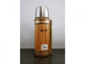 Steel thermos with bamboo 720 ml   SM23