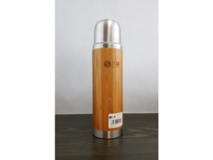Steel thermos with bamboo 230 ml  SM21