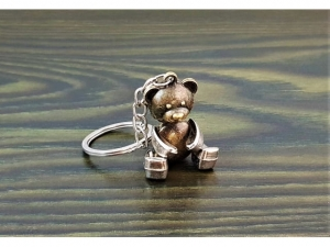 Teddy bear brass key ring 4.5cm    MB-13995