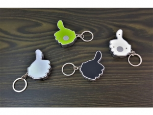Thumb key ring with LED and telephone tip  (78520.11)