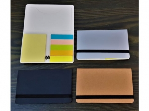Business card holder with sticky notes for marking  (23480.11)