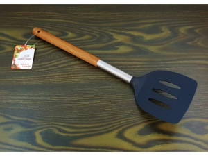 Kitchen spatula openwork wood handle 34cm  MB-13840