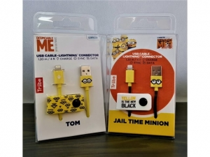 Cable Iphone Tribe Minions 120cm  CLR22101