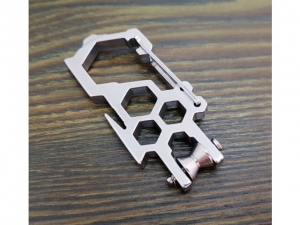 9cm steel multitool snap hook with EDC block  ZJ18092601