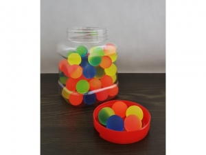 30mm rubber ball, mix of colors JAR   MJ11146