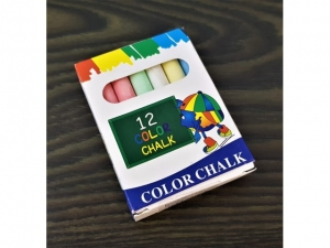 Color chalk 12 pcs   MB-14084