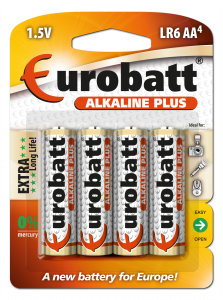 Alkaline Batteries Plus 4 x AA R6    LR6-BP4