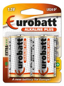 Batteries LR20 Alkaline Plus 2 pcs  LR20-BP2