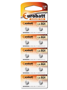 Battery Alkaline AG4 - BP10 battery Eurobatt