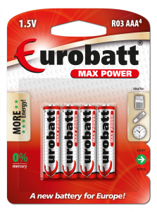 Batteries AAA R3 Max Power 4 pcs  BR3-BP4