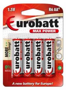 Batteries AA R6 Max Power 4 pcs  BR6-BP4
