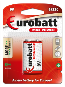 Battery Max Power 6F22C-BP1 9V blister