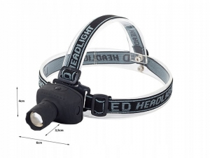 Headlamp with 3 Watt LED Zoom  MJ1049