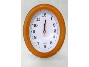 Wall clock with a floating mechanism, WOOD  MJ2386