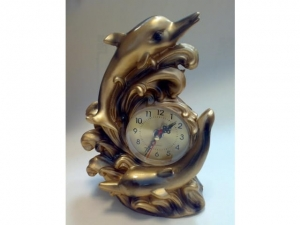 Stylized fireplace clock, DELFIN    MB-6964