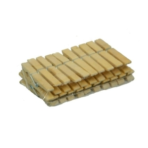 Clothing pegs bamboo 20 pcs  MJ3540