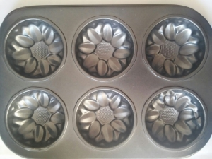 Baking muffin SUNFLOWERS 6 pieces  MJ-845-1