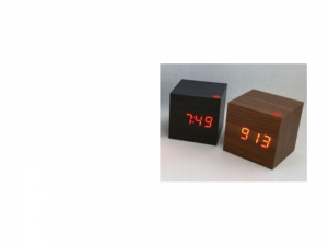 LCD clock with date and alarm clock HIT, square-cube   MB-8467