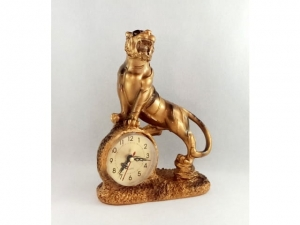 Stylized fireplace clock, TIGER  MB-6966