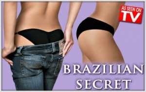 Brazilian secret panties magnifying buttocks TV